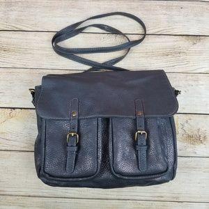 Grey Reversible Crossbody Bag